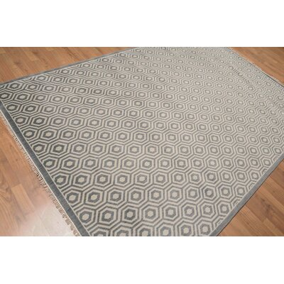 Doyon One-of-a-Kind Contemporary Oriental Hand-Knotted Wool Dark Gray Area Rug