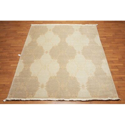Quesada One-of-a-Kind Transitional Oriental Hand-Knotted Wool Ming Green Area Rug
