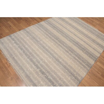 Lisk One-of-a-Kind Contemporary Oriental Hand-Knotted Wool Gray Area Rug