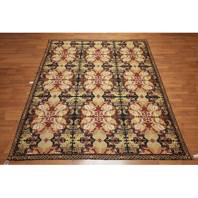 Harcourt One-of-a-Kind Needlepoint Aubusson Traditional Oriental Hand-Woven Wool Rust Area Rug