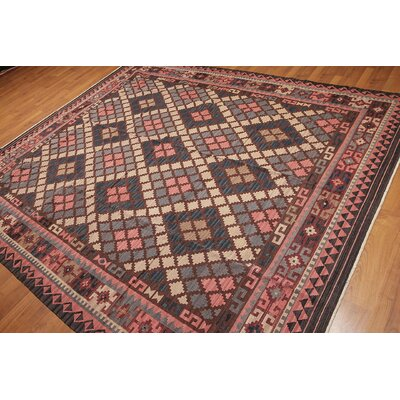 Gueye One-of-a-Kind Kilim Traditional Oriental Hand-Woven Wool Brown Area Rug