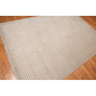 Bivens One-of-a-Kind Modern Oriental Hand-Knotted Wool Gray Area Rug