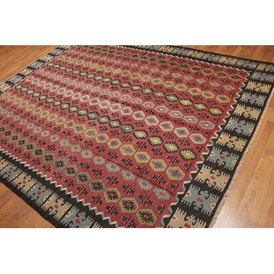 Guifford One-of-a-Kind Kilim Traditional Oriental Hand-Woven Wool Rust Area Rug