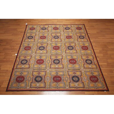 Hardouin One-of-a-Kind Needlepoint Aubusson Traditional Oriental Hand-Woven Wool Gold Area Rug