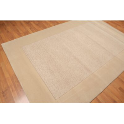 Ohanesian One-of-a-Kind Modern Oriental Hand-Knotted Wool Beige Area Rug