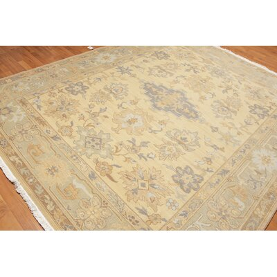Hewitt One-of-a-Kind Traditional Oriental Hand-Knotted Wool Beige Gold Area Rug