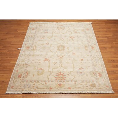 Hiatt One-of-a-Kind Traditional Oriental Hand-Knotted Wool Taupe Area Rug