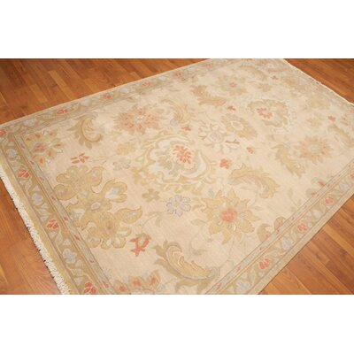 Hillfield One-of-a-Kind Traditional Oriental Hand-Knotted Wool Beige Area Rug