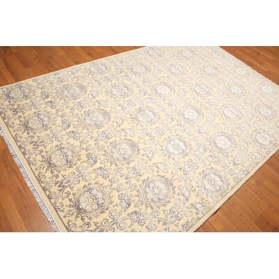 Hillingdon One-of-a-Kind Transitional Oriental Hand-Knotted Beige Area Rug