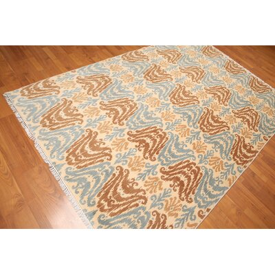 Hillwill One-of-a-Kind Modern Oriental Hand-Knotted Wool Beige Area Rug