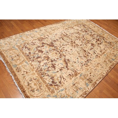 Kim-Barros One-of-a-Kind Modern Oriental Hand-Knotted Wool Brown Area Rug