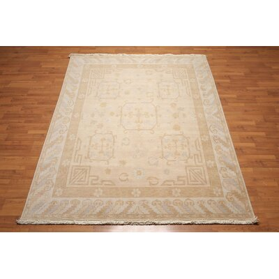 Quint One-of-a-Kind Traditional Oriental Hand-Knotted Wool Taupe Area Rug