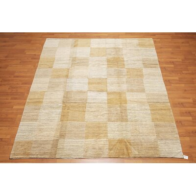 Cincotta One-of-a-Kind Modern Oriental Hand-Knotted Wool Beige Area Rug