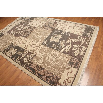 Cothran One-of-a-Kind Transitional Oriental Hand-Knotted Wool Beige Area Rug