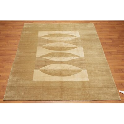 Oppel One-of-a-Kind Modern Oriental Hand-Knotted Wool Moss Area Rug