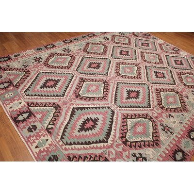 Bitteridge One-of-a-Kind Kilim Traditional Oriental Hand-Woven Wool Rust Area Rug