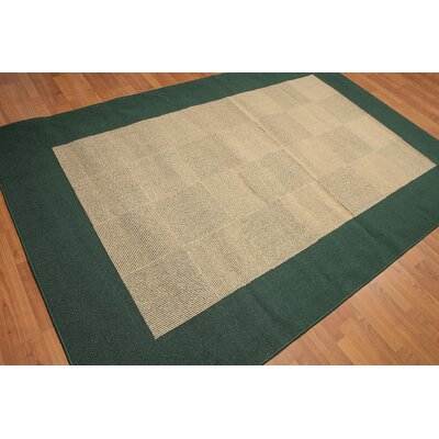 Kirsten One-of-a-Kind Modern Oriental Hand-Knotted Wool Straw Area Rug