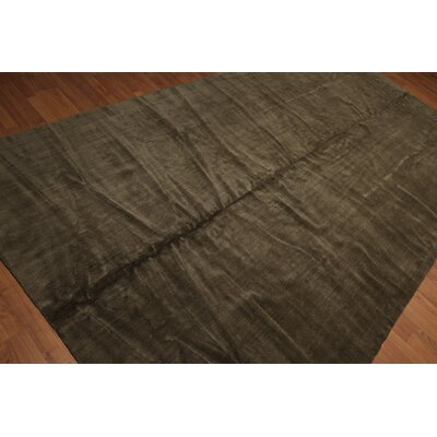 Racette One-of-a-Kind Modern Oriental Hand-Knotted Wool Olive Area Rug