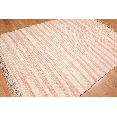 Whelan One-of-a-Kind Modern Oriental Hand-Woven Wool Beige Area Rug
