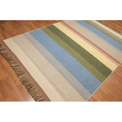 Whelchel Modern Wool Blue Area Rug