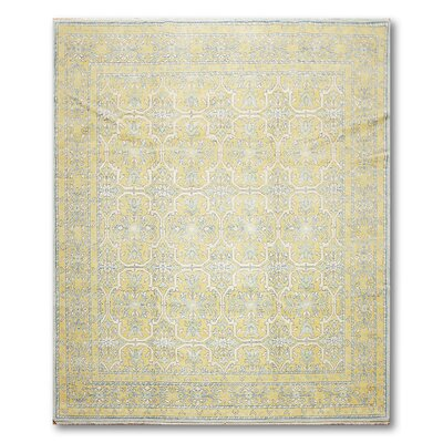 Wingard One-of-a-Kind Modern Oriental Hand-Knotted Wool Gold Area Rug