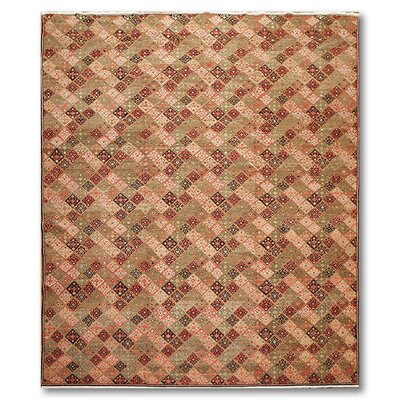 Montanari One-of-a-Kind Modern Oriental Hand-Knotted Wool Olive Area Rug