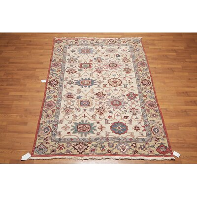 Leilani One-of-a-Kind Soumak Traditional Oriental Hand-Knotted Wool Beige Area Rug