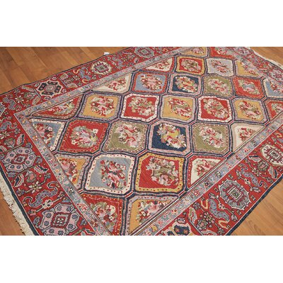 Lengade One-of-a-Kind Soumak Traditional Oriental Hand-Knotted Wool Rust Area Rug