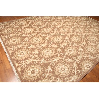 Wittenburg One-of-a-Kind Pile Oriental Transitional Oriental Hand-Knotted Wool Taupe Area Rug