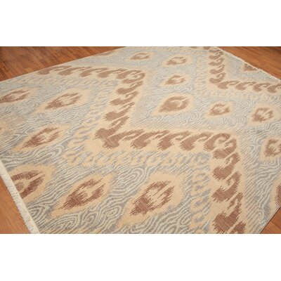 Winningham One-of-a-Kind Traditional Oriental Hand-Knotted Wool Tan Area Rug
