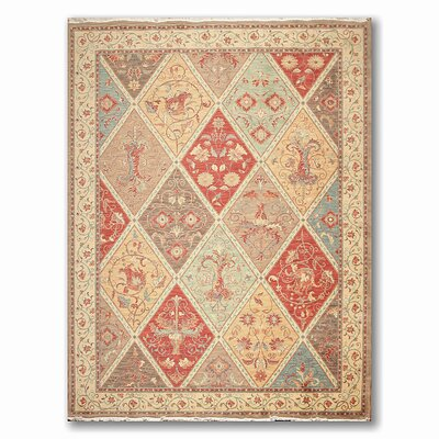 Garrick One-of-a-Kind Pile Oriental Traditional Oriental Hand-Knotted Wool Aqua Area Rug