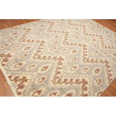 Winona One-of-a-Kind Pile Oriental Contemporary Oriental Hand-Knotted Wool Ivory Area Rug