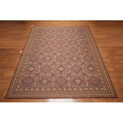 McEwan One-of-a-Kind Needlepoint Aubusson Traditional Oriental Hand-Woven Wool Rust Area Rug