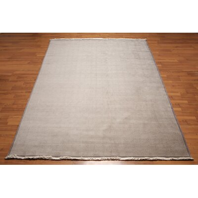 Bischof One-of-a-Kind modern Oriental Hand-Knotted Wool Gray Area Rug