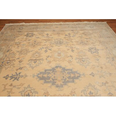 Woodhay One-of-a-Kind Pile Oriental Traditional Oriental Hand-Knotted Wool Beige Area Rug