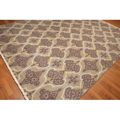 Prisco One-of-a-Kind Pile Oriental Transitional Oriental Hand-Knotted Wool Blue Area Rug
