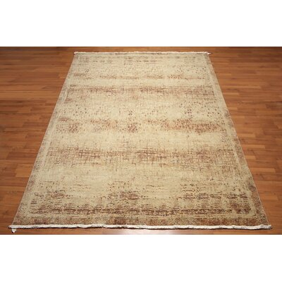 Radford One-of-a-Kind Contemporary Oriental Hand-Knotted Wool Aqua Area Rug