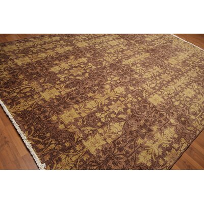Coto One-of-a-Kind Transitional Oriental Hand-Knotted Wool Brown Area Rug