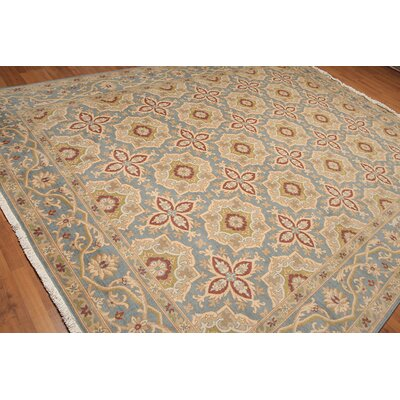 Radke One-of-a-Kind Traditional Oriental Hand-Knotted Wool Blue Area Rug