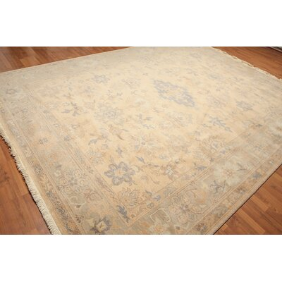 Mardis One-of-a-Kind Traditional Oriental Hand-Knotted Wool warm Beige Area Rug