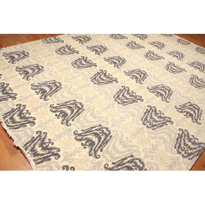Wyndemere One-of-a-Kind Pile Oriental Contemporary Oriental Hand-Knotted Wool Ivory Area Rug