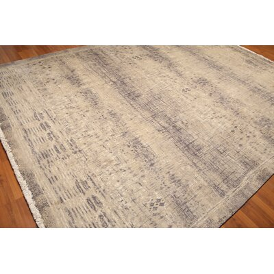 Wynn One-of-a-Kind Pile Oriental Contemporary Oriental Hand-Knotted Beige Area Rug