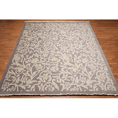 Hogarth One-of-a-Kind Pile Oriental Transitional Oriental Hand-Knotted Gray Area Rug