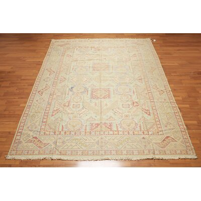Hollins One-of-a-Kind Kilim Traditional Oriental Hand-Woven Wool Sage Green Area Rug