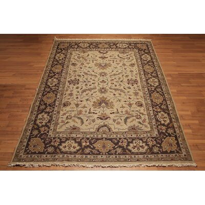 Melita One-of-a-Kind Soumak Traditional Oriental Hand-Knotted Wool Warm Beige Area Rug