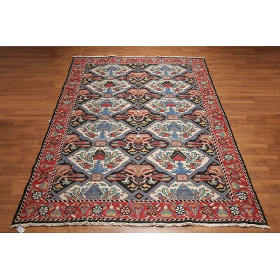 Merida One-of-a-Kind Soumak Traditional Oriental Hand-Knotted Wool Rust Area Rug