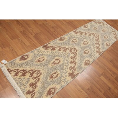Hendon One-of-a-Kind Contemporary Oriental Hand-Knotted Wool Ivory Area Rug