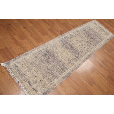 Pursley One-of-a-Kind Contemporary Oriental Hand-Knotted Wool Beige Area Rug
