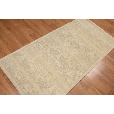 Henking One-of-a-Kind Transitional Oriental Hand-Knotted Wool Beige Area Rug
