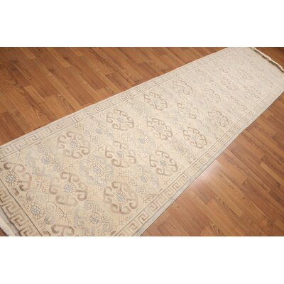 Henley One-of-a-Kind Traditional Oriental Hand-Knotted Wool Beige Area Rug